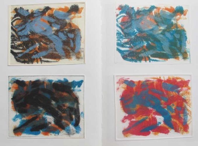 Four Carborundum Print Experiments from Sketchbook 49 x 37 cm