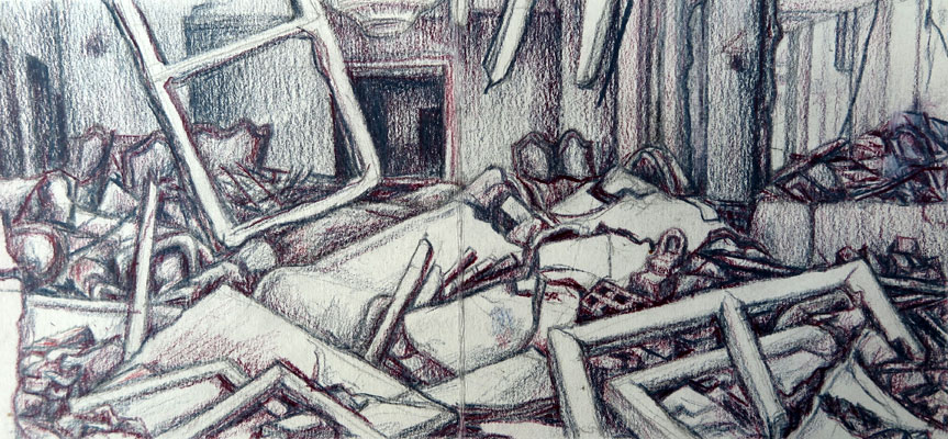 bombed-house-algiers-drawing