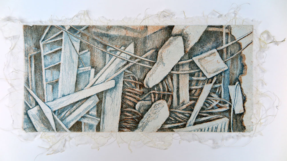bombed-house-etching-on-handmade-paper
